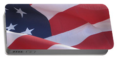 American Flag   Portable Battery Charger by Chrisann Ellis