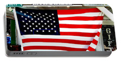 American Flag Route 66 Portable Battery Charger