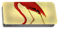 Portable Battery Charger featuring the painting American Flamingo by Audubon