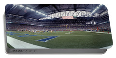 American Football Match At Ford Field Portable Battery Charger
