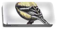 American Goldfinch Portable Battery Charger by Katharina Filus