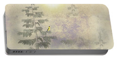 American Goldfinch Morning Mist  Portable Battery Charger