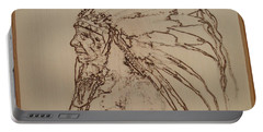 American Horse - Oglala Sioux Chief - 1880 Portable Battery Charger by Sean Connolly