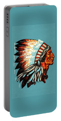American Indian Chief Profile Portable Battery Charger