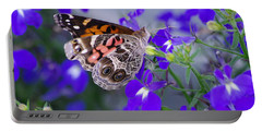 American Lady On Lobelia Portable Battery Charger by Greg Graham