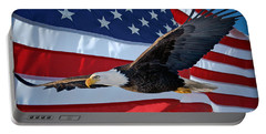Portable Battery Charger featuring the photograph American Proud by Gary Keesler
