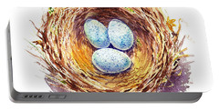 American Robin Nest Portable Battery Charger