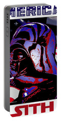Portable Battery Charger featuring the digital art American Sith by Dale Loos Jr