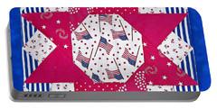 Americana Quilt Block Design Art Prints Portable Battery Charger