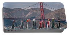 Americas Cup Catamarans At The Golden Gate Portable Battery Charger