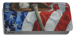 America's Game - Art By Bill Tomsa Portable Battery Charger