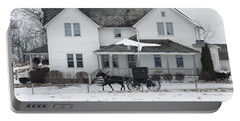 Amish Buggy And Amish House Portable Battery Charger