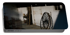 Amish Buggy Wheel Portable Battery Charger