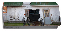 Amish Buggy White Barn Portable Battery Charger