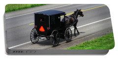 Amish Horse And Buggy In Ohio Portable Battery Charger