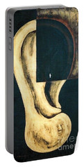 Portable Battery Charger featuring the painting Amnesia by Fei A
