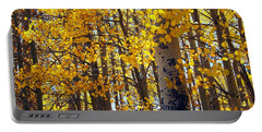 Among The Aspen Trees In Fall Portable Battery Charger