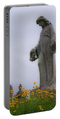 Among The Flowers Portable Battery Charger