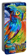 Ampersand Owl Portable Battery Charger by Beverley Harper Tinsley