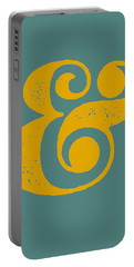 Ampersand Poster Blue And Yellow Portable Battery Charger