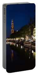Amsterdam Blue Hour Portable Battery Charger by Georgia Mizuleva