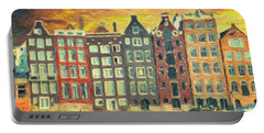 Portable Battery Charger featuring the painting Amsterdam by Taylan Apukovska