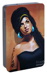 Amy Winehouse Portable Battery Charger by Paul Meijering