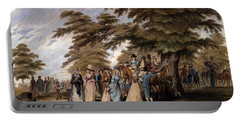 An Airing In Hyde Park, 1796 Portable Battery Charger