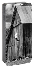 An American Barn Bw Portable Battery Charger by Steve Harrington