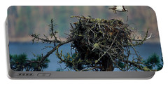 An Eagle Flying From Its Nest Portable Battery Charger
