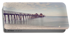 An Early Morning - Naples Pier Portable Battery Charger