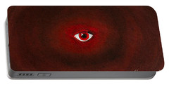 An Eye Is Upon You Portable Battery Charger by Stefanie Forck