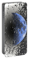 Half Blue Moon Phase Portable Battery Charger by Kellice Swaggerty