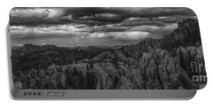 An Incoming Storm Over The Black Hills Of South Dakota Portable Battery Charger