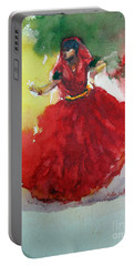 An Indian Dancer Portable Battery Charger