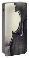 An Old Violin In Black And White Portable Battery Charger