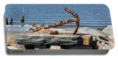 Portable Battery Charger featuring the photograph Anchor by Karen Silvestri