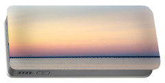 Portable Battery Charger featuring the photograph Anchored At Sunset by Kennerth and Birgitta Kullman