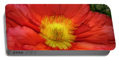 Ancient Flower 4 - Poppy Portable Battery Charger