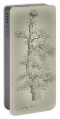 Ancient Oak Tree With A Storks Nest Portable Battery Charger