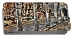 Portable Battery Charger featuring the photograph Ancient Roman Columns In Israel by Doc Braham