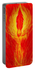 Angel Fire Portable Battery Charger by Nancy Cupp