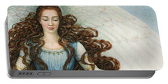 Angel In A Blue Dress Portable Battery Charger