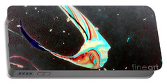 Portable Battery Charger featuring the painting Angel by Jacqueline McReynolds