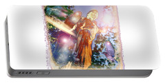 Portable Battery Charger featuring the photograph Angel Light by Marie Hicks