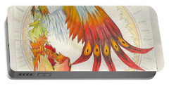 Portable Battery Charger featuring the painting Angel Phoenix by Shawn Dall