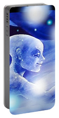 Angel Portrait Portable Battery Charger by Hartmut Jager