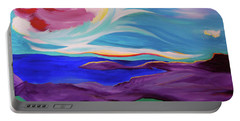 Portable Battery Charger featuring the painting Angel Sky by First Star Art