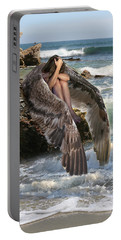 Angels- God Has Sent His Spirit To Comfort You And Heal You Portable Battery Charger