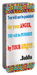 Anger Buddha Wisdom Quote Buddhism   Background Designs  And Color Tones N Color Shades Available Fo Portable Battery Charger